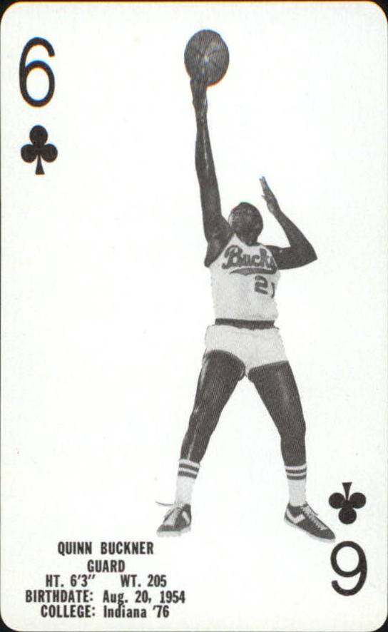 1976-77 Bucks Playing Cards #C6 Quinn Buckner