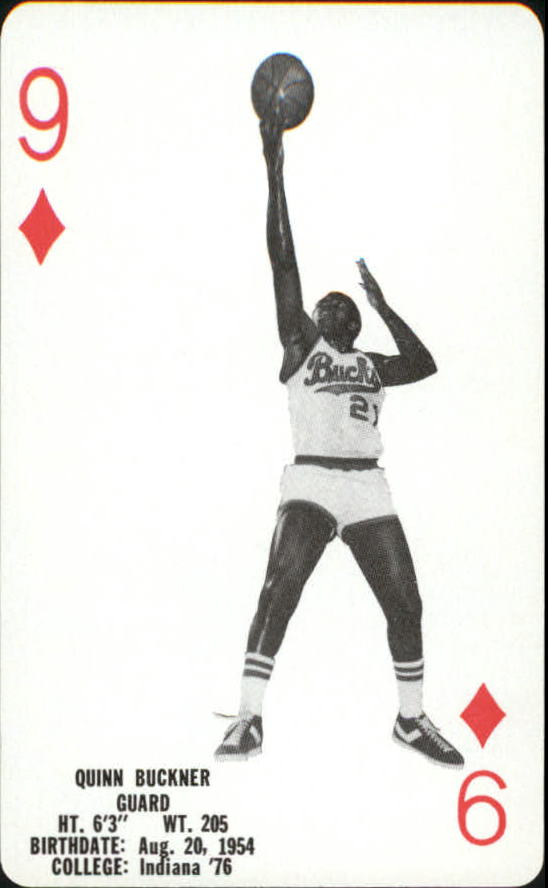 1976-77 Bucks Playing Cards #D9 Quinn Buckner