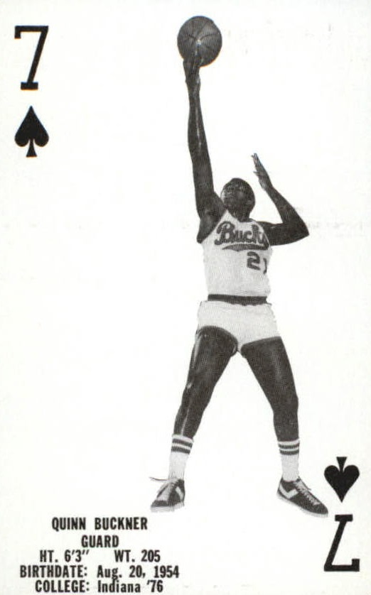 1976-77 Bucks Playing Cards #S6 Quinn Buckner