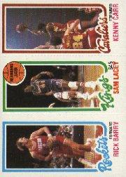 1980-81 Topps #116 105 Rick Barry/123 Sam Lacey TL/54 Kenny Carr