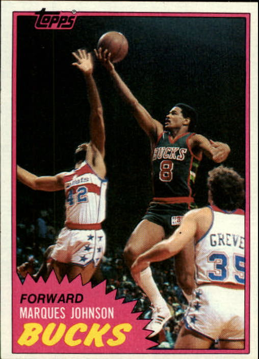 1981-82 Topps #24 Marques Johnson front image
