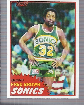 1981-82 Topps #43 Fred Brown