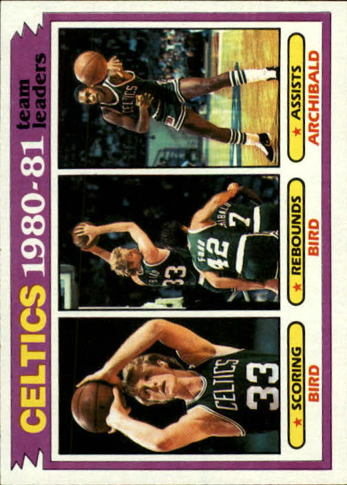1981-82 Topps #45 Larry Bird/Larry Bird/Nate Archibald TL
