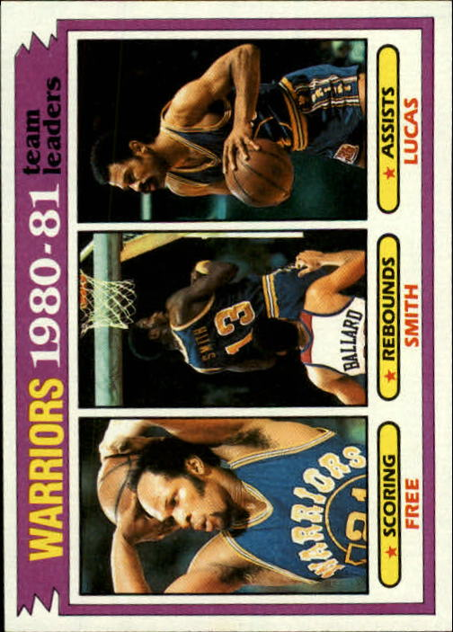 1981-82 Topps #51 Lloyd Free/Larry Smith/John Lucas TL