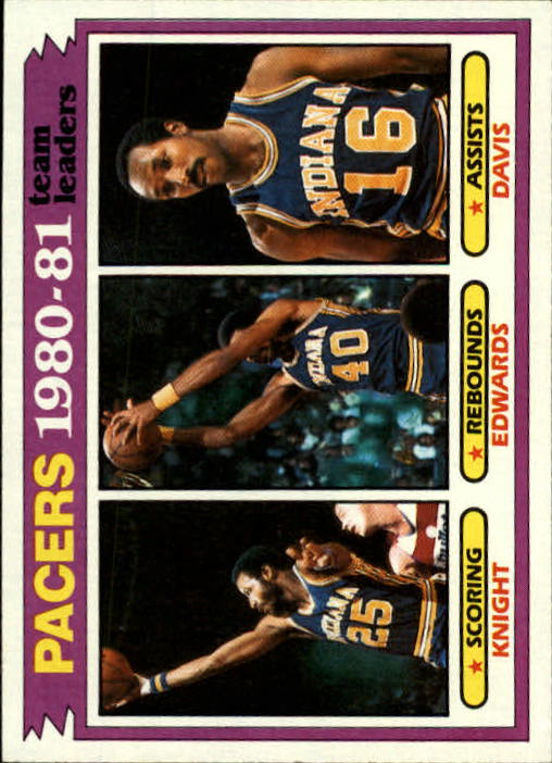 1981-82 Topps #53 Billy Knight/James Edwards/Johnny Davis TL
