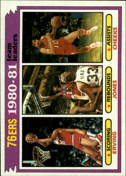 1981-82 Topps #59 Julius Erving/Caldwell Jones/Maurice Cheeks TL
