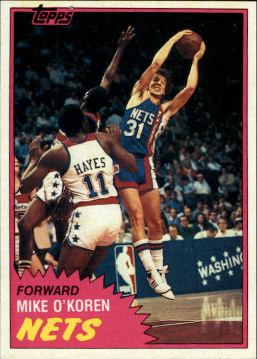 1981-82 Topps #E81 Mike O'Koren RC