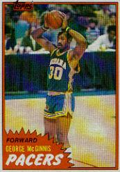1981-82 Topps #MW92 George McGinnis