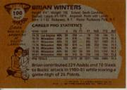 1981-82 Topps #MW100 Brian Winters back image