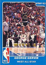 1983 Star All-Star Game #16 George Gervin