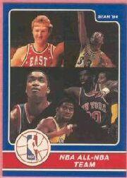 1984 Star Award Banquet #24 Larry Bird/Magic Johnson/Isiah Thomas/Kareem Abdul--Jabbar/Bernard King/All-NBA Team
