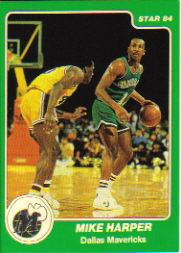 1984-85 Star Arena #B6 Derek Harper UER/(Mike Harper on both/sides with Mike's birthdate ,etc.)