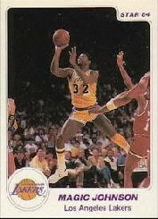 1984-85 Star Arena #D3 Magic Johnson