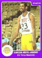 1985 Star Kareem Abdul-Jabbar #12 Kareem Abdul-Jabbar/All-Time Records