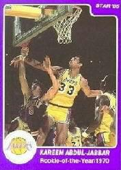 1985 Star Kareem Abdul-Jabbar #13 Kareem Abdul-Jabbar/Rookie-of-the-Year 70