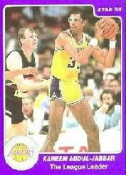1985 Star Kareem Abdul-Jabbar #15 Kareem Abdul-Jabbar/The League Leader
