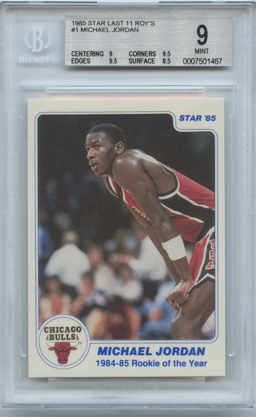 1985 Star Last 11 ROY's #1 Michael Jordan