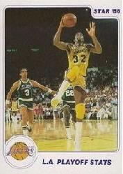 1985-86 Star Lakers Champs #14 Magic Johnson IA