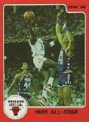 1986 Star Michael Jordan #5 Michael Jordan/1985 All-Star