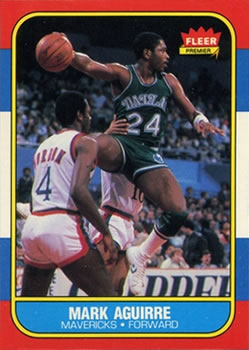 1986-87 Fleer #3 Mark Aguirre RC