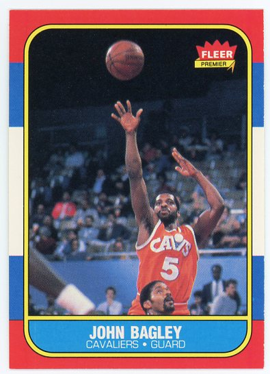 1986-87 Fleer #5 John Bagley RC