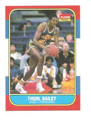 1986-87 Fleer #6 Thurl Bailey RC