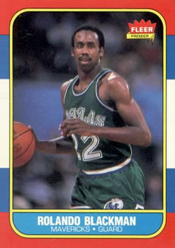 1986-87 Fleer #11 Rolando Blackman RC