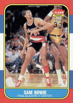 1986-87 Fleer #13 Sam Bowie RC