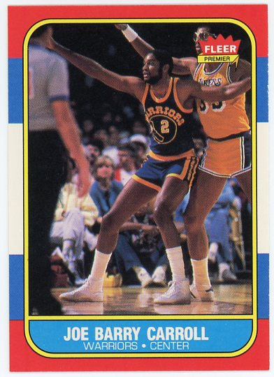 1986-87 Fleer #14 Joe Barry Carroll