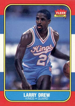 1986-87 Fleer #25 Larry Drew RC