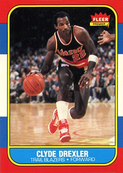 1986-87 Fleer #26 Clyde Drexler RC