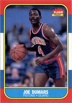 1986-87 Fleer #27 Joe Dumars RC