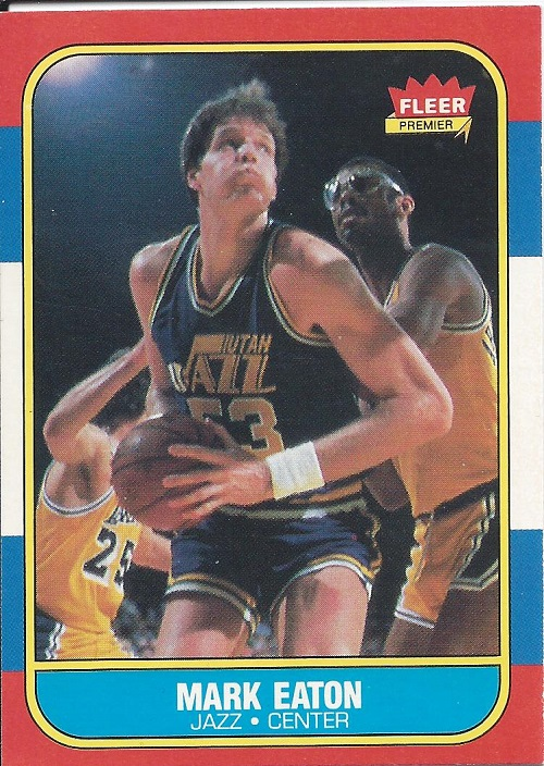 1986-87 Fleer #28 Mark Eaton RC