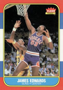 1986-87 Fleer #29 James Edwards
