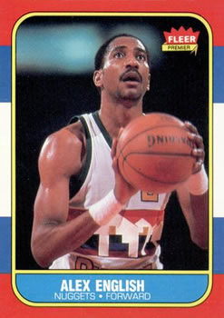 1986-87 Fleer #30 Alex English