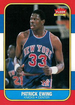 1986-87 Fleer #32 Patrick Ewing RC