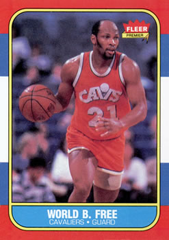 1986-87 Fleer #35 World B. Free