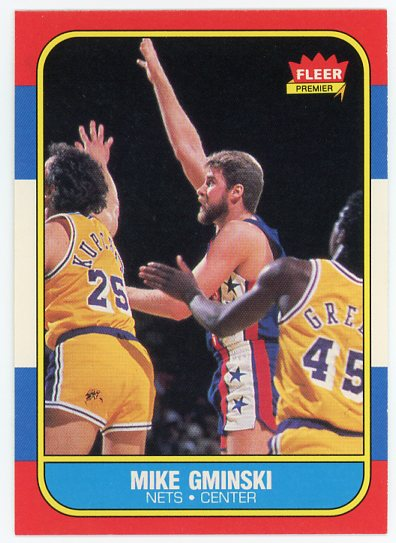 1986-87 Fleer #38 Mike Gminski