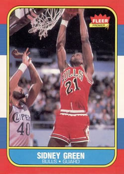 1986-87 Fleer #40 Sidney Green