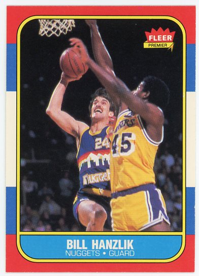 1986-87 Fleer #43 Bill Hanzlik
