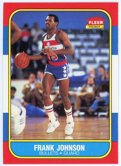 1986-87 Fleer #52 Frank Johnson RC