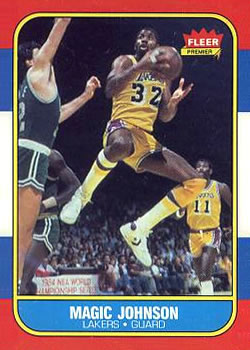 1986-87 Fleer #53 Magic Johnson