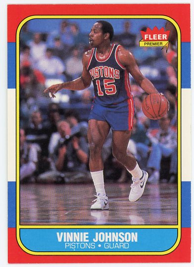 1986-87 Fleer #56 Vinnie Johnson