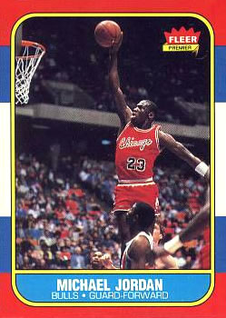 1986-87 Fleer #57 Michael Jordan RC