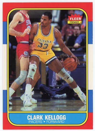 1986-87 Fleer #58 Clark Kellogg RC