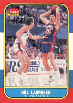 1986-87 Fleer #61 Bill Laimbeer