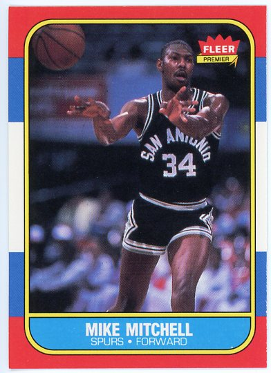 1986-87 Fleer #74 Mike Mitchell