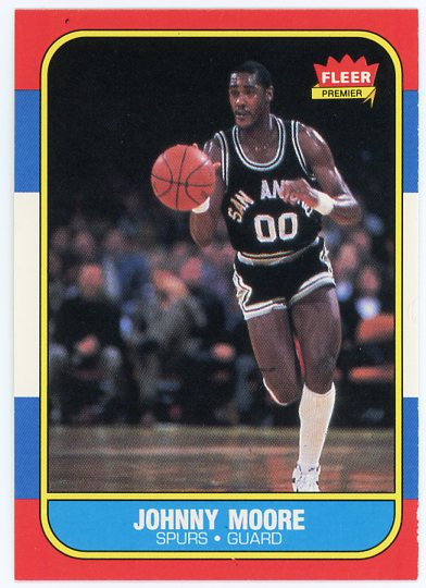 1986-87 Fleer #76 Johnny Moore