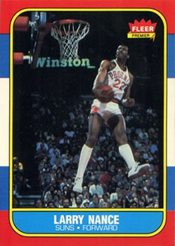 1986-87 Fleer #78 Larry Nance RC