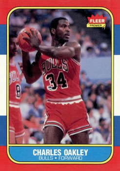 1986-87 Fleer #81 Charles Oakley RC